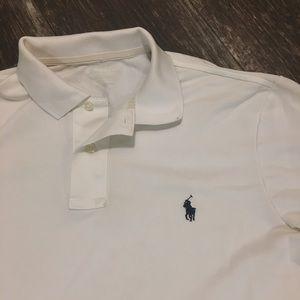Polo by Ralph Lauren Shirts - Ralph Lauren White Performance Collared Polo Shirt